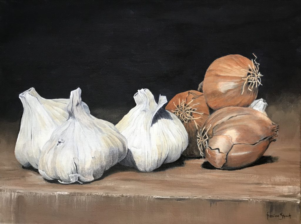 Still Life with Garlic and Onions