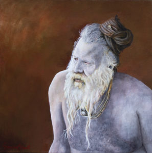 Sadhu - Acrylic on Board